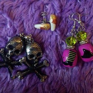 CLAIRE'S Halloween Earrings Lot
